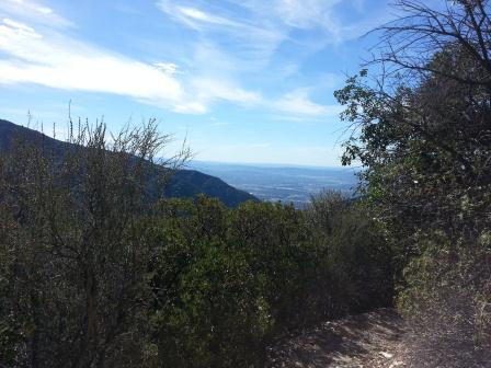 We still had the whole day ahead of us upon arriving at the campsite, so we hiked to the top of Mount Wilson. The trail  occasionally opens up to these views. Also I thought I heard a mountain lion but it was Ben's stomach.